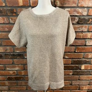 NWT New York & Co S/S Marled Scoop Neck Sweater